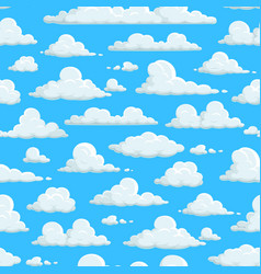 cloudy sky seamless pattern clouds background vector image