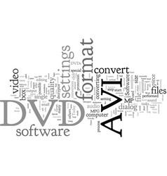 Convert dvd to avi vector