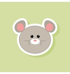Cute mouse face vector