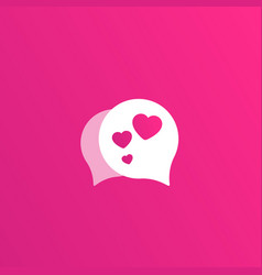 Dating app love chat logo for apps and web vector