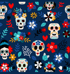 Day dead pattern vector