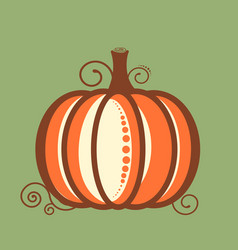 decorative pumpkin card in flat style vector image