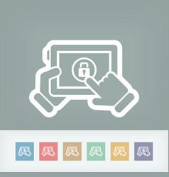 device password vector image
