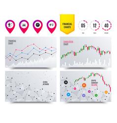 Diagram graph pie chart presentation billboard vector