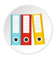 documentation in folders icon circle vector image