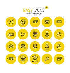 easy icons 07c money vector image