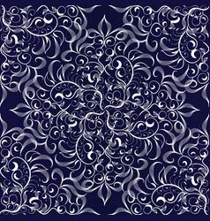 elegance damask floral seamless pattern vector image