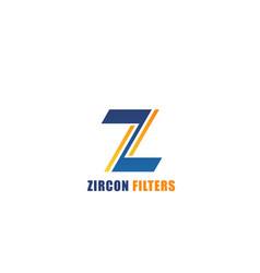 Emblem zircon filters vector