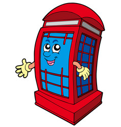 english red phone booth vector image