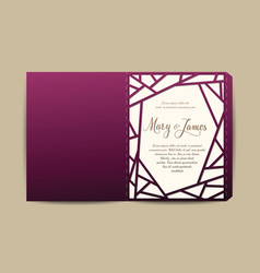 Envelope for wedding invitation or greeting card vector