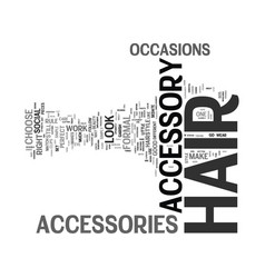 Essential hair accessory tips text background vector