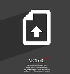 Export Upload file icon symbol Flat modern web vector image