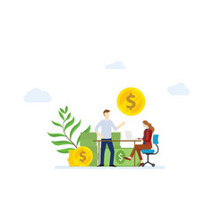 Financial consultation concept with man and woman vector