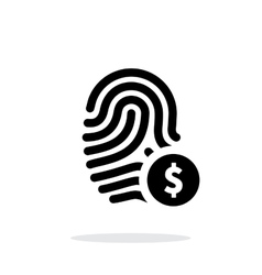 Fingerprint with USD currency symbol and money vector
