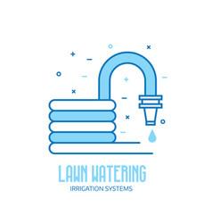garden hose line icon vector image