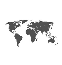 grey world map infographic layout isolated on vector image