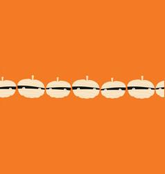 halloween mummy pumpkins seamless border vector image