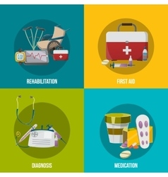 Health Facilities Icon Set vector