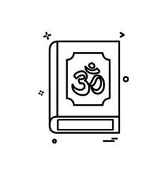 hindu holy book icon design vector image