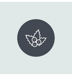 Icon Christmas berries for holiday season vector image