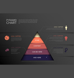 Infographic five tier pyramid chart diagram vector