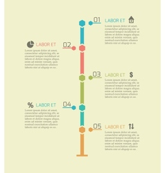 Infographic timeline chart elements vector