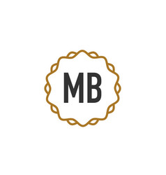 Initial letter mb elegance creative logo vector