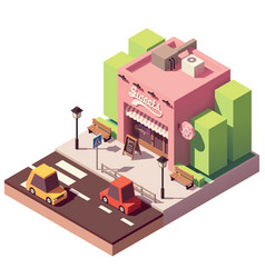isometric sweets shop vector image