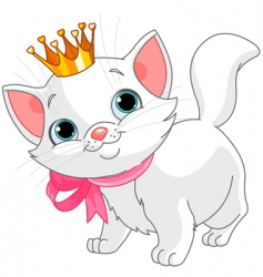 Kitten princess vector