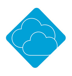 Label nice clouds weather of sky vector