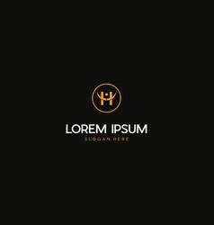 Letter h human people creative business logo desig vector