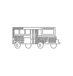 line art bus vector image
