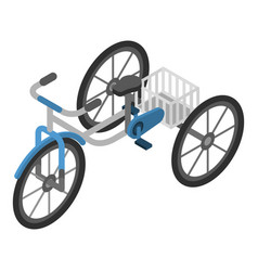 old tricycle icon isometric style vector image
