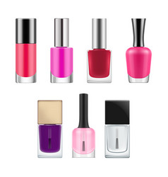 packages for nail polish vector image