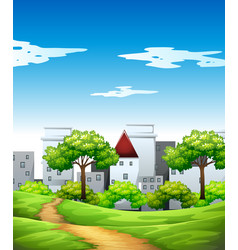 park in the urban city vector image