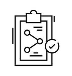 performance figures line icon concept sign vector image