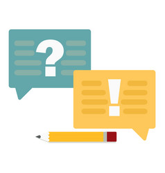 question and answer marks with speech bubbles or vector image
