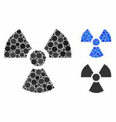 Radioactivity composition icon spheric items vector