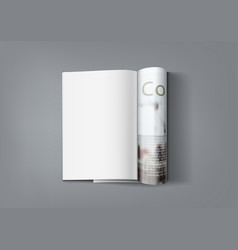 Realistic magazine with clear page for you vector
