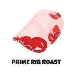 Realistic prime rib roast vector