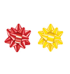 red and yellow bow vector image