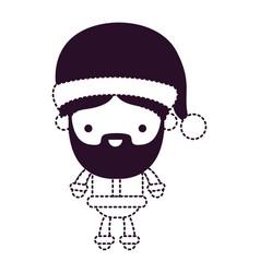 Santa claus man kawaii full body cartoon vector