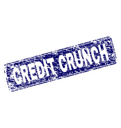 Scratched credit crunch framed rounded rectangle vector