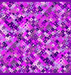 Seamless abstract geometrical mosaic pattern vector