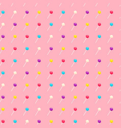 Seamless pattern with lollipop sweet candies vector