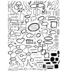 Set of hand drawn elements for design vector image