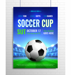 Soccer cup poster vector