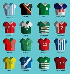 Soccer Teams Sportswear Uniforms vector