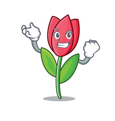 Succesful tulip character cartoon style vector