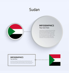 Sudan Country Set of Banners vector